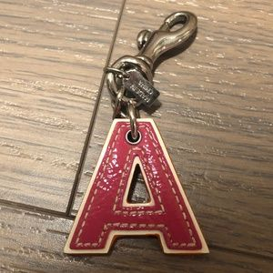 Coach Letter Keychain (A)